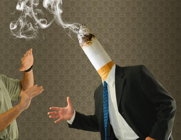 Il disgusto per smettere di fumare
