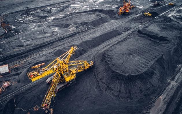 Miniera di carbone a cielo aperto.