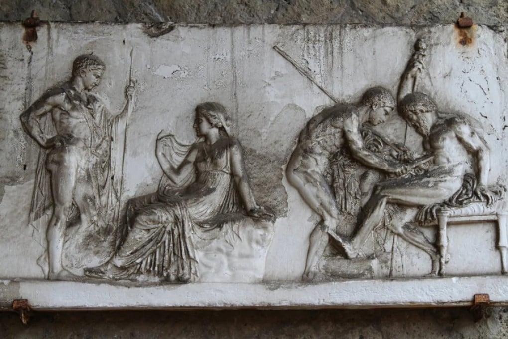 Ercolano: Achille cura Telefo, figlio di Eracle