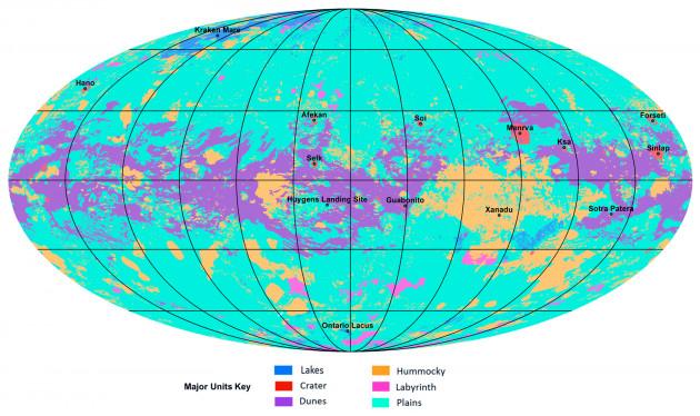 Saturno: la mappa di Titano