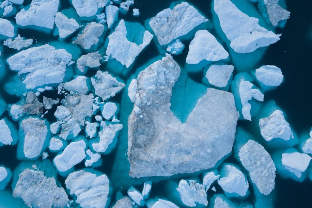Un gigantesco iceberg.