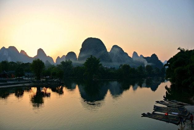 Tramonto a Yangshuo
