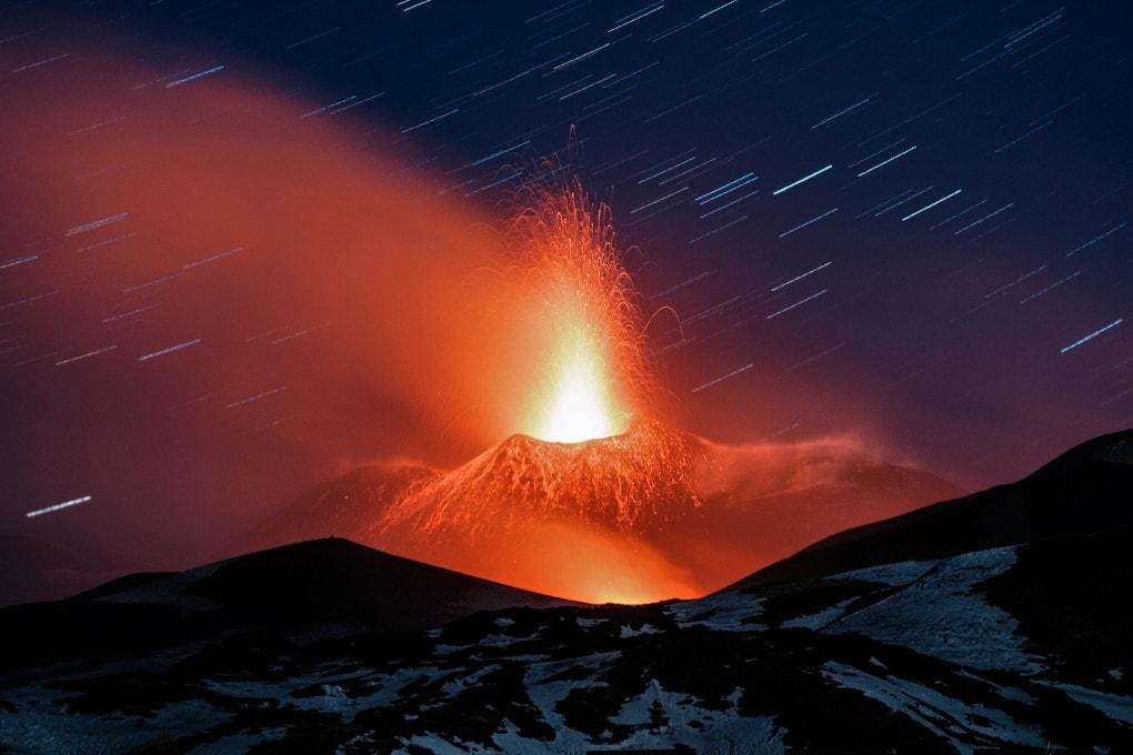 Etna: eruzione del marzo 2017
