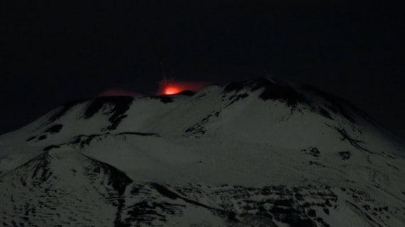 Etna: eruzione del novembre 2019