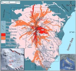Etna: mappa del rischio vulcanico (2013)