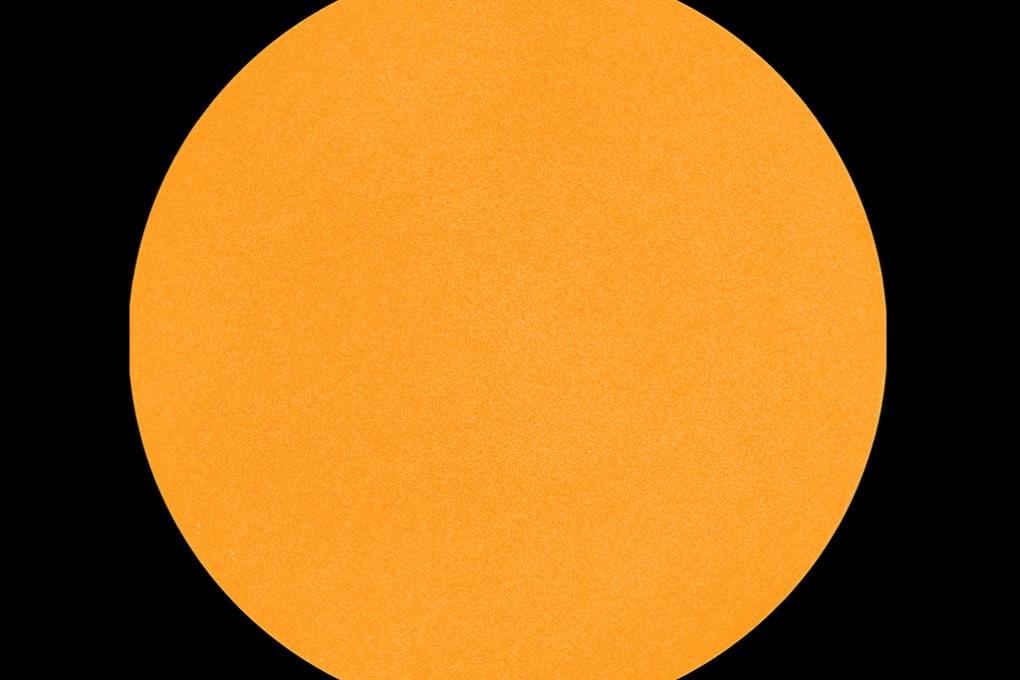 23 dicembre 2019: il Sole senza macchie