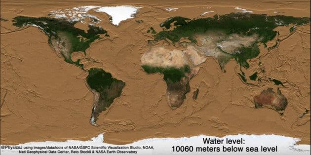 Come sarebbe la Terra se... tirassimo l'acqua