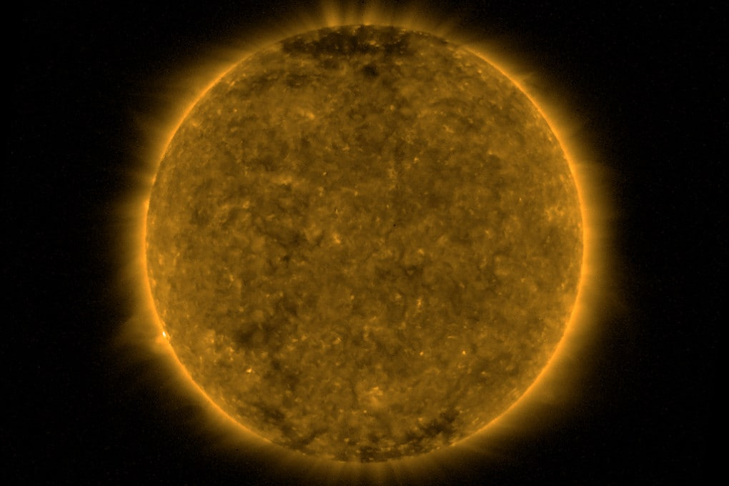 Un'immagine del Sole l'11 novembre 2019 ripresa dal satellite-laboratorio PROBA-2