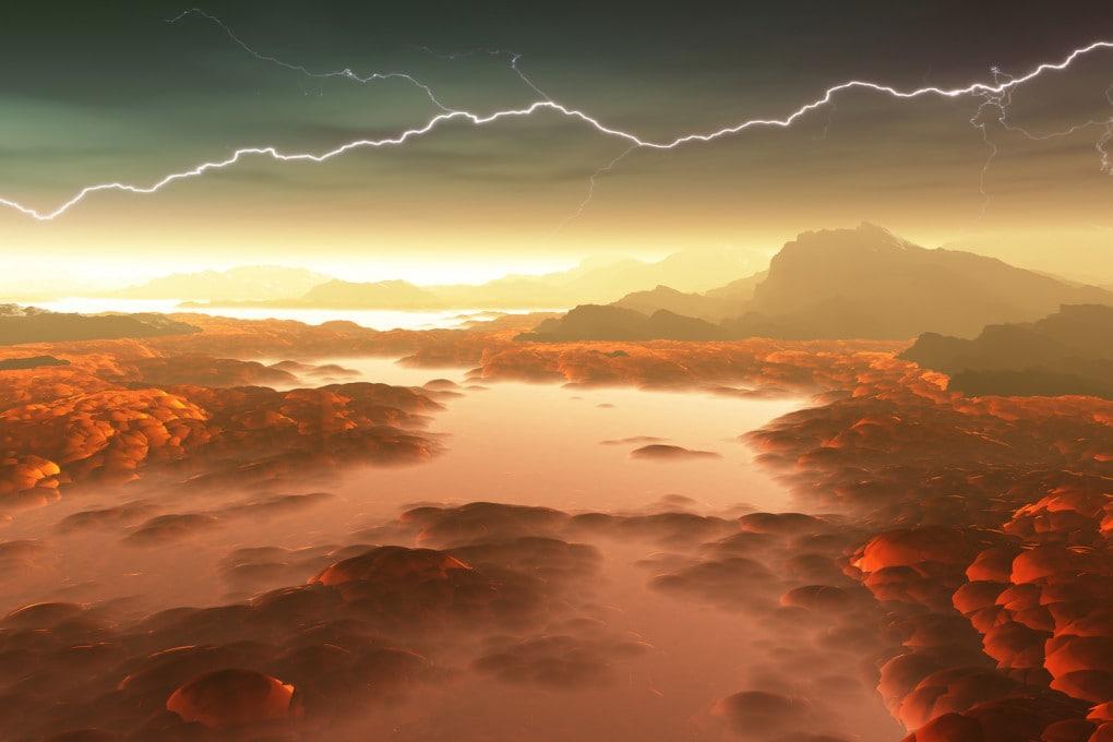 fiumi di lava su Venere