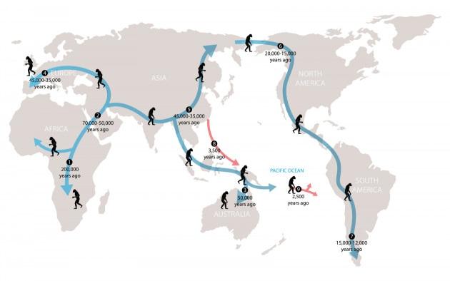 Uscita dall'Africa: storia delle migrazioni umane