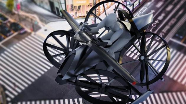 La moto elettrica volante di teTra