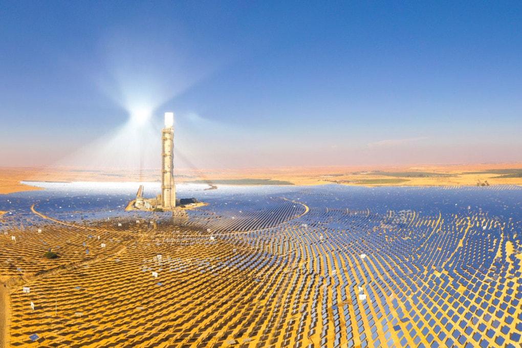 Una centrale elettrica fotovoltaica nell'Oasi Bahariya, in Egitto.