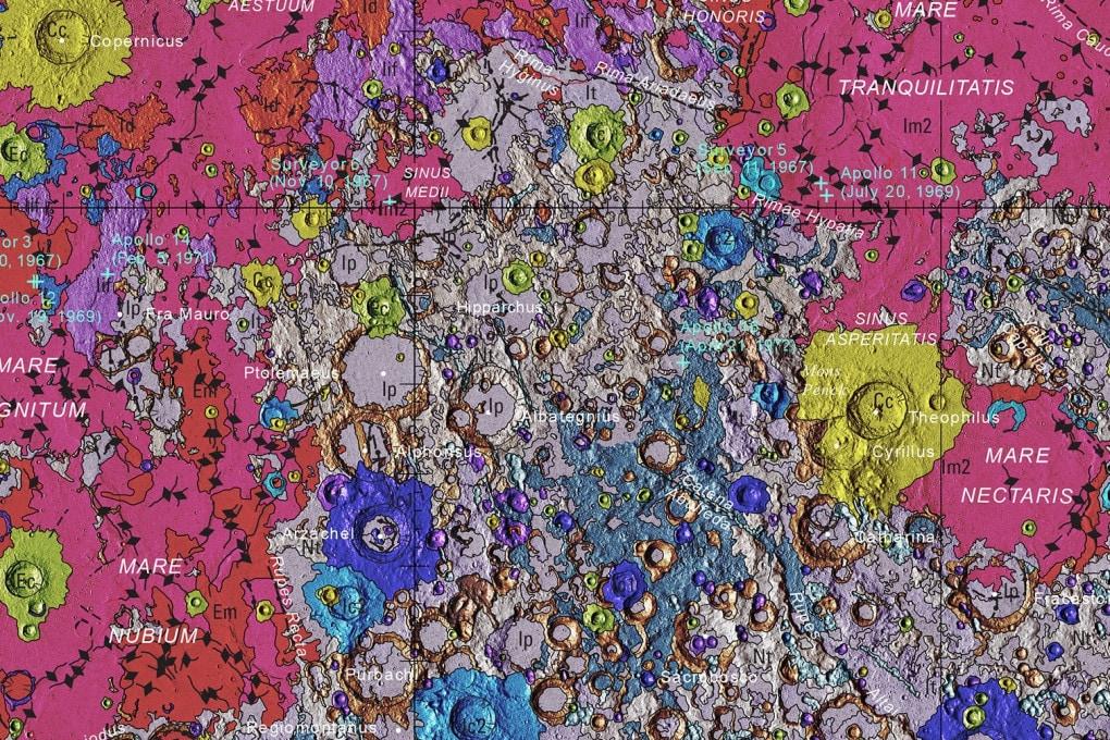 Una Luna a colori: così non l'avete mai vista