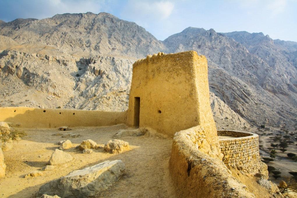 Il forte di Dhayah, a Ras Al Khaimah, una delle aree dove sono state misurate temperature record.