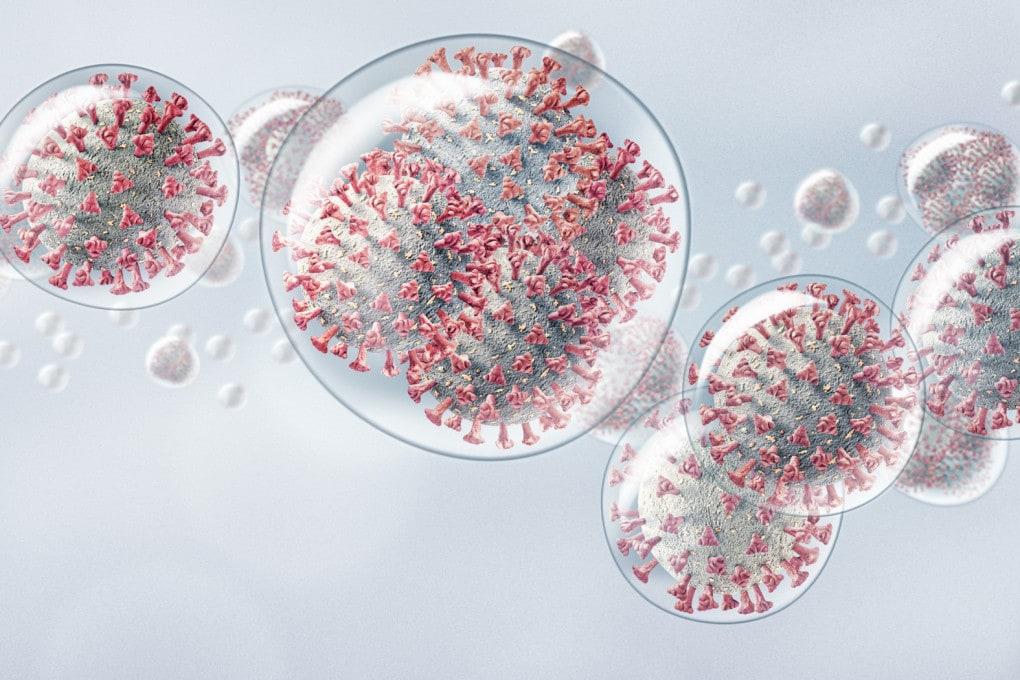 Goccioline con coronavirus...