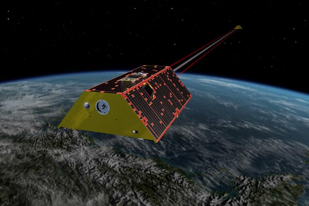 Illustrazione: i due satelliti del sistema GRACE-FO