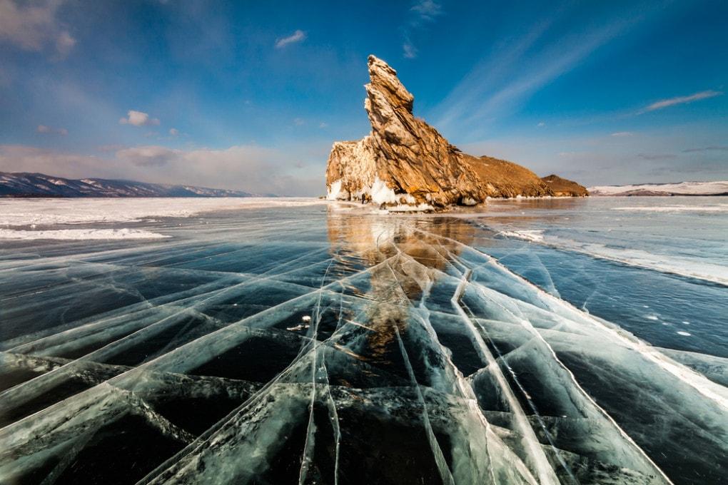 Il lago Baikal, in Siberia.