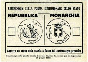 2 giugno 1946: la scheda elettorale del referendum