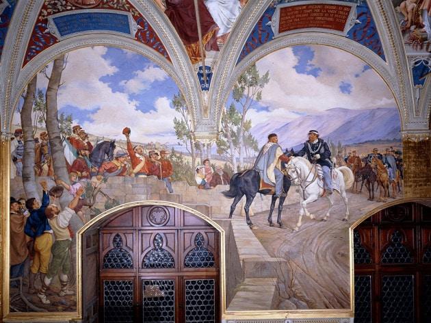 Giuseppe Garibaldi e Vittorio Emanuele II, l'incontro di Teano