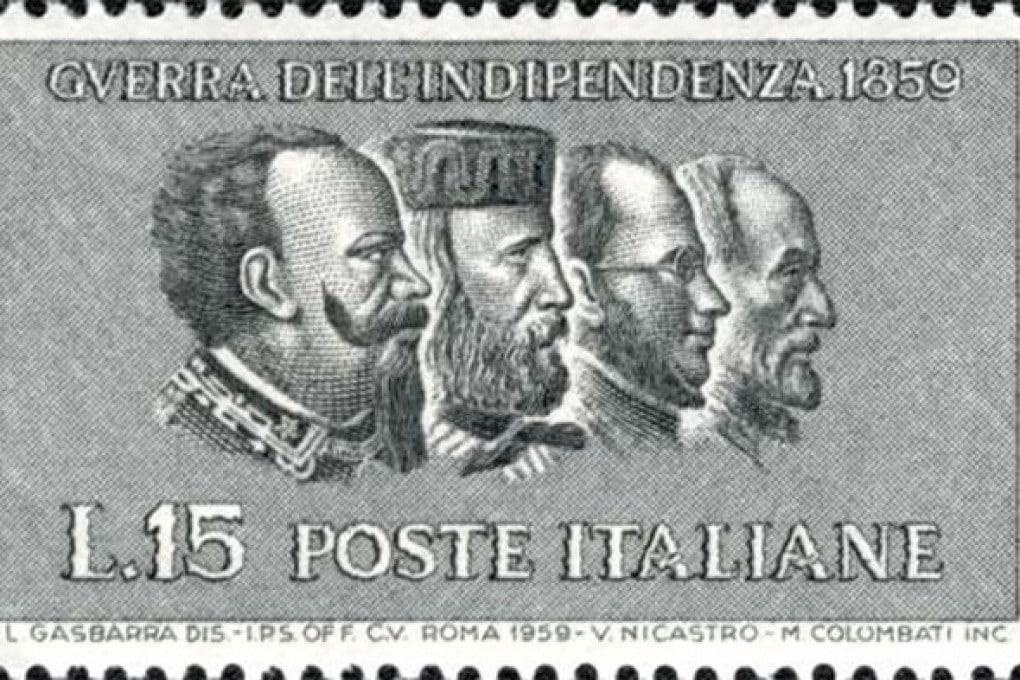Il francobollo emesso nel 1959, in occasione del centenario della Seconda guerra di indipendenza