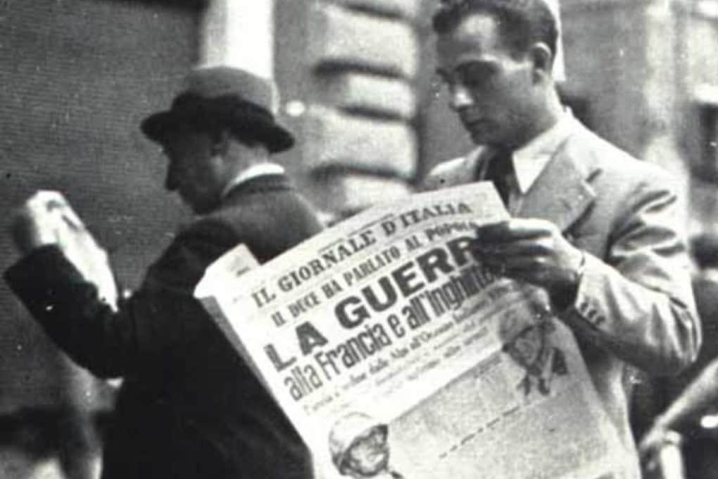 10 giugno 1940: l'Italia dichiara guerra alla Francia e all'Inghilterra