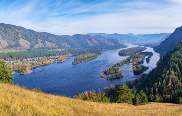 Il fiume Yenisei, nella Siberia occidentale.