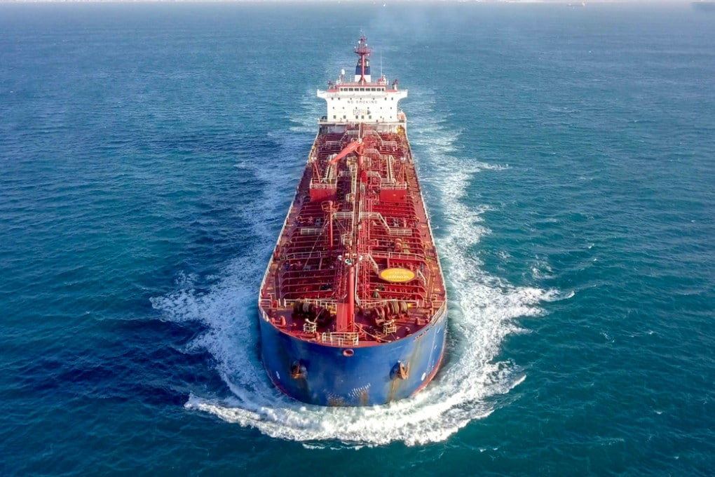 Una nave petroliera.
