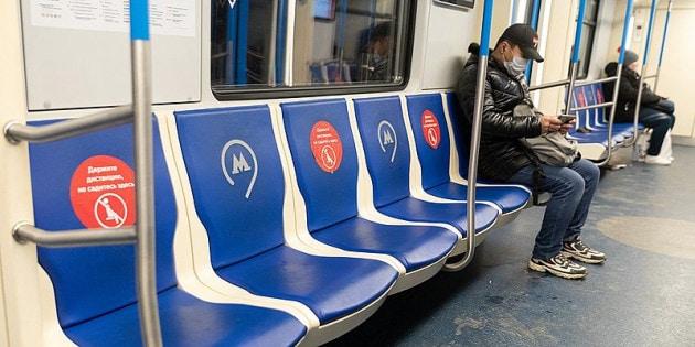 Per sapere quando una stazione o un mezzo pubblico sono affollati c'è la nuova versione di Google Maps. Foto: la metropolitana di Mosca.