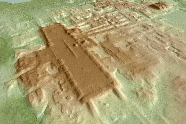 Maya: la ricostruzione 3D del sito di Aguada Fénix, in Messico.