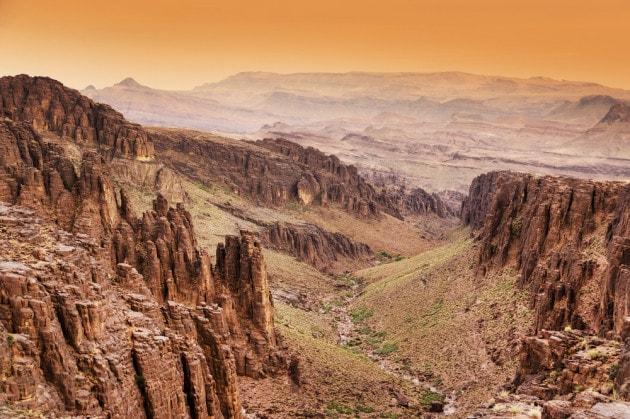 Le montagne dell'Anti Atlante, nel Marocco meridionale.