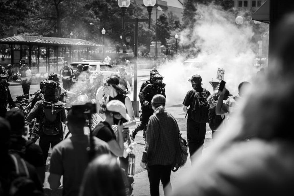 Gas lacrimogeni manifestazioni BLM