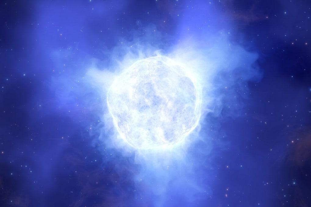 Una stella blu