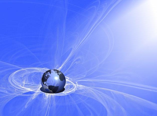 Illustrazione: pennacchi del campo magnetico della Terra