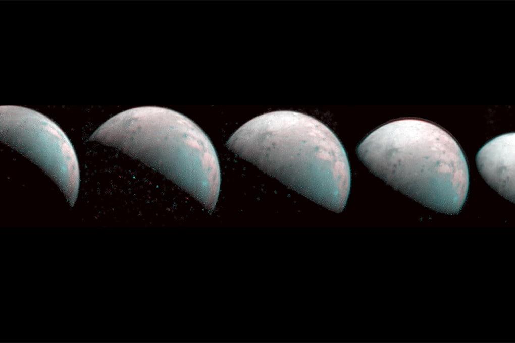Le prime immagini del polo nord di Ganimede