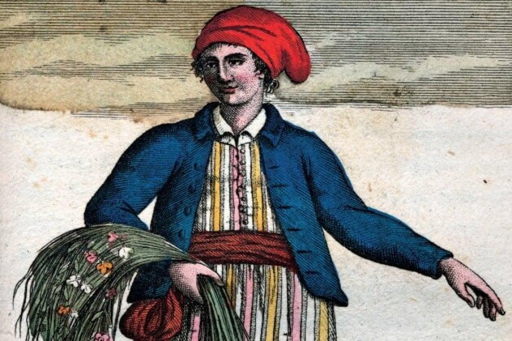 Un'illustrazione di Jeanne Baret (1740-1803) ritratta vestita da uomo.
