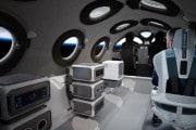 Gli interni di lusso della SpaceShipTwo