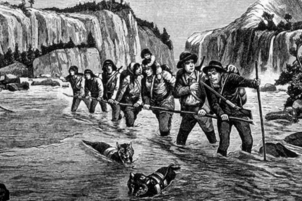 Cercatori d'oro nel Klondike, 1898.