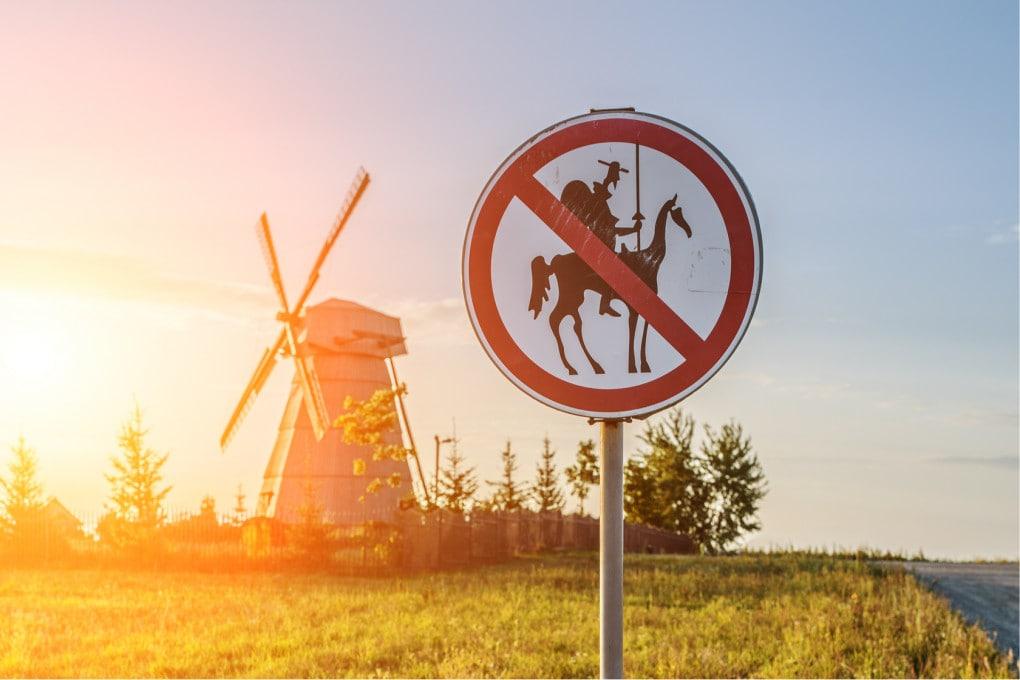 Mulini a vento (e pale eoliche): vietato l'accesso a Don Chisciotte