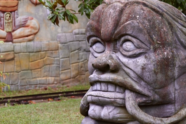 Espressione di un volto maya