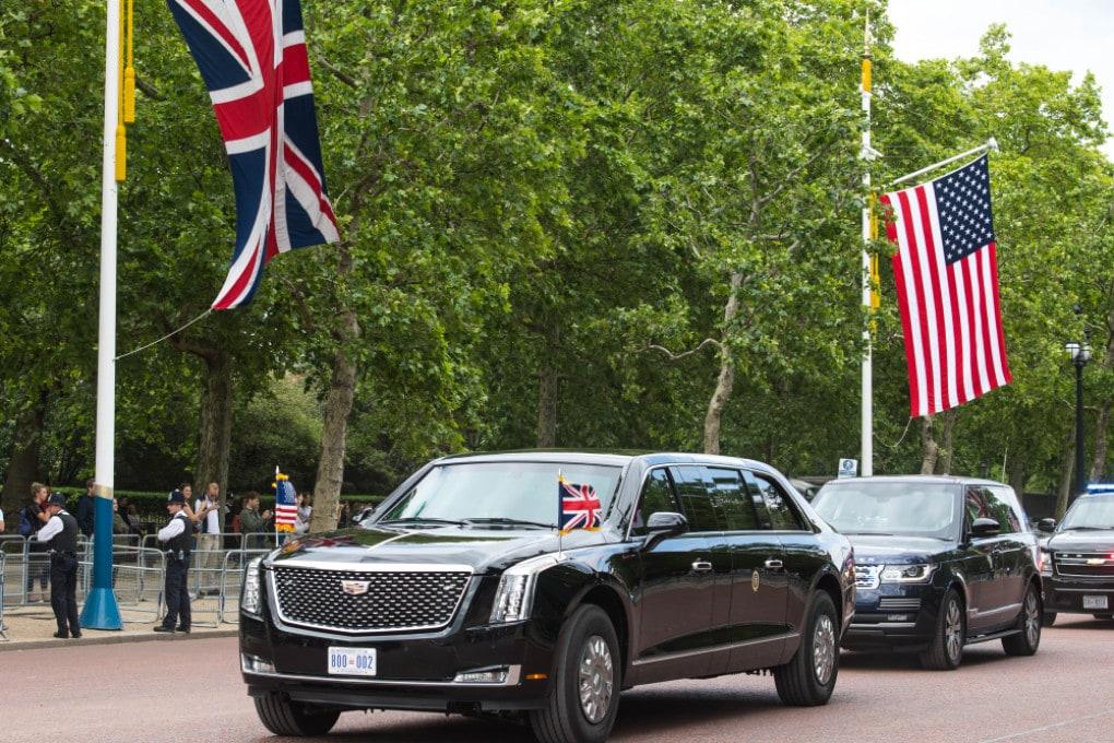 La Cadillac One a Londra in occasione di una visita a Buckingham Palace di Donald Trump nel 2019.