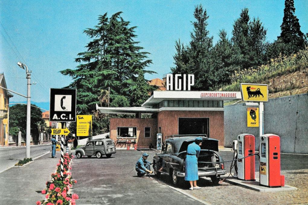 Collezione Fisogni: stazione di servizio AGIP