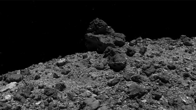 Un tour in 3D dell'asteroide Bennu