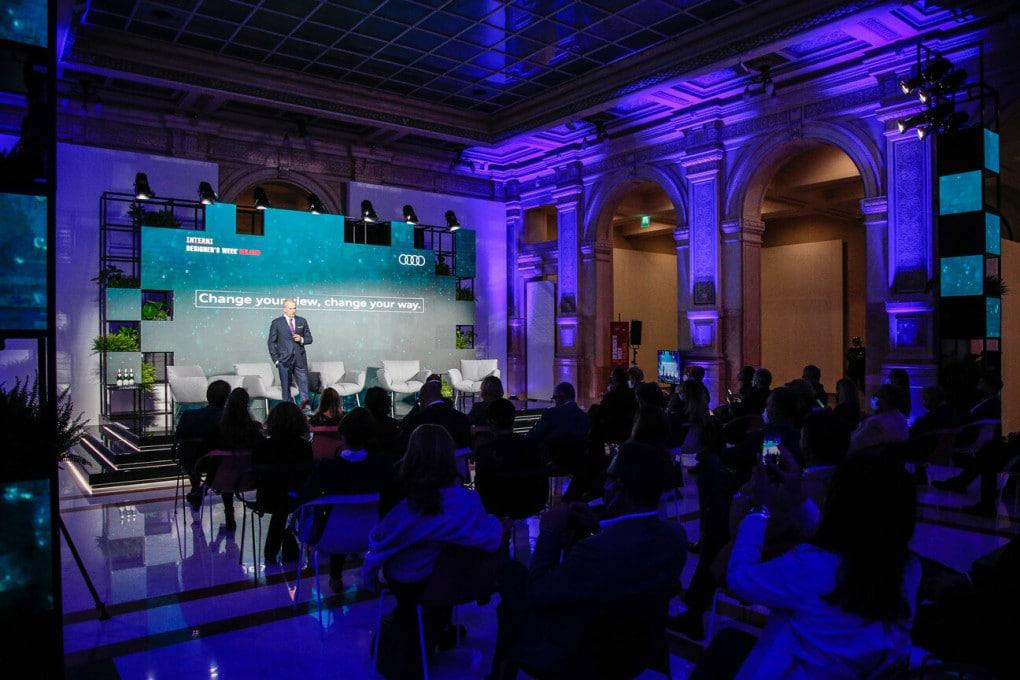 Fabrizio Longo, direttore di Audi Italia, durante il talk show organizzato a Milano.