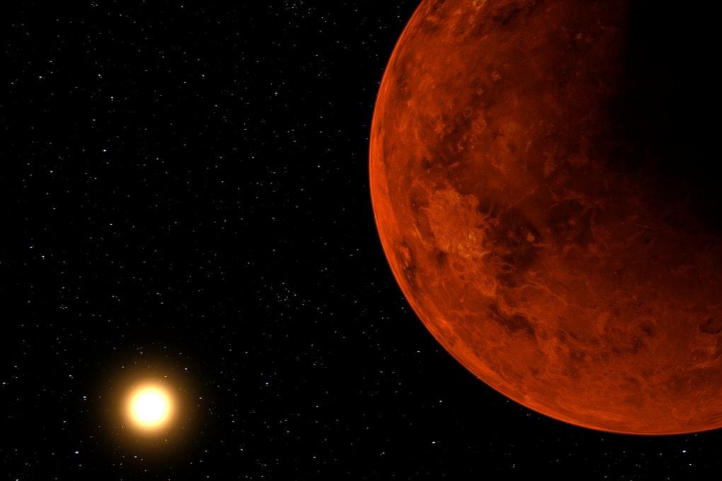 Venere (illustrazione): il pianeta infernale del Sistema Solare è un ricettacolo di vita?