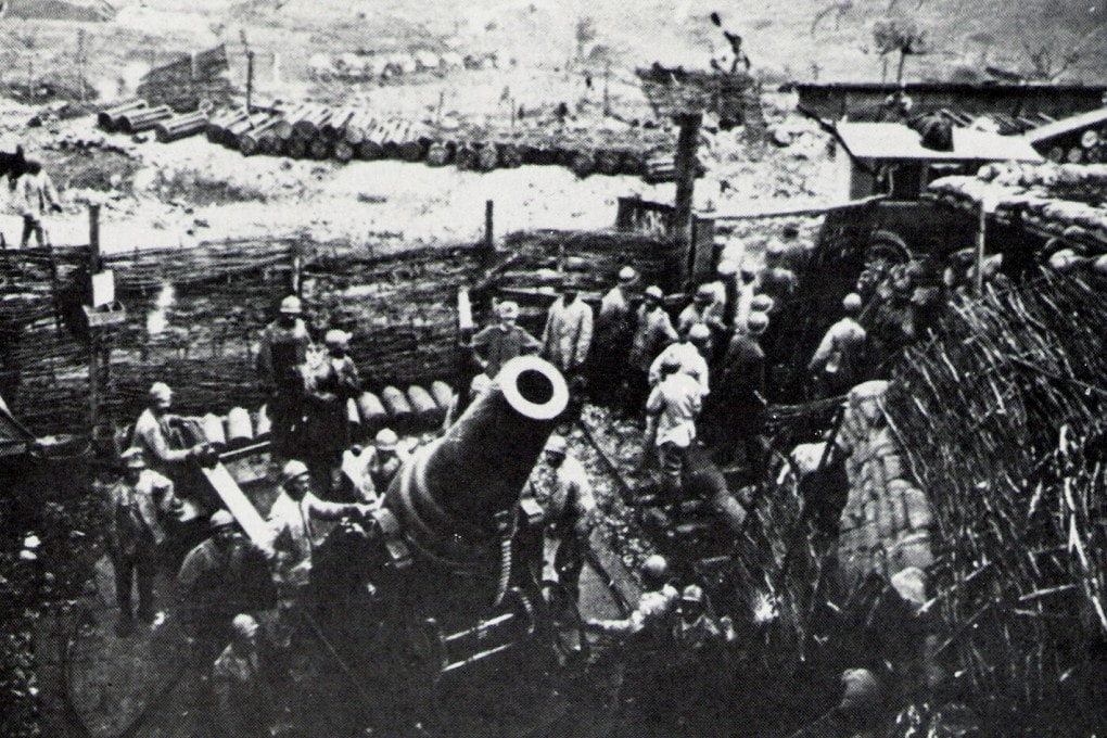 Vittorio Veneto: un obice da 280 mm dell'artiglieria italiana.