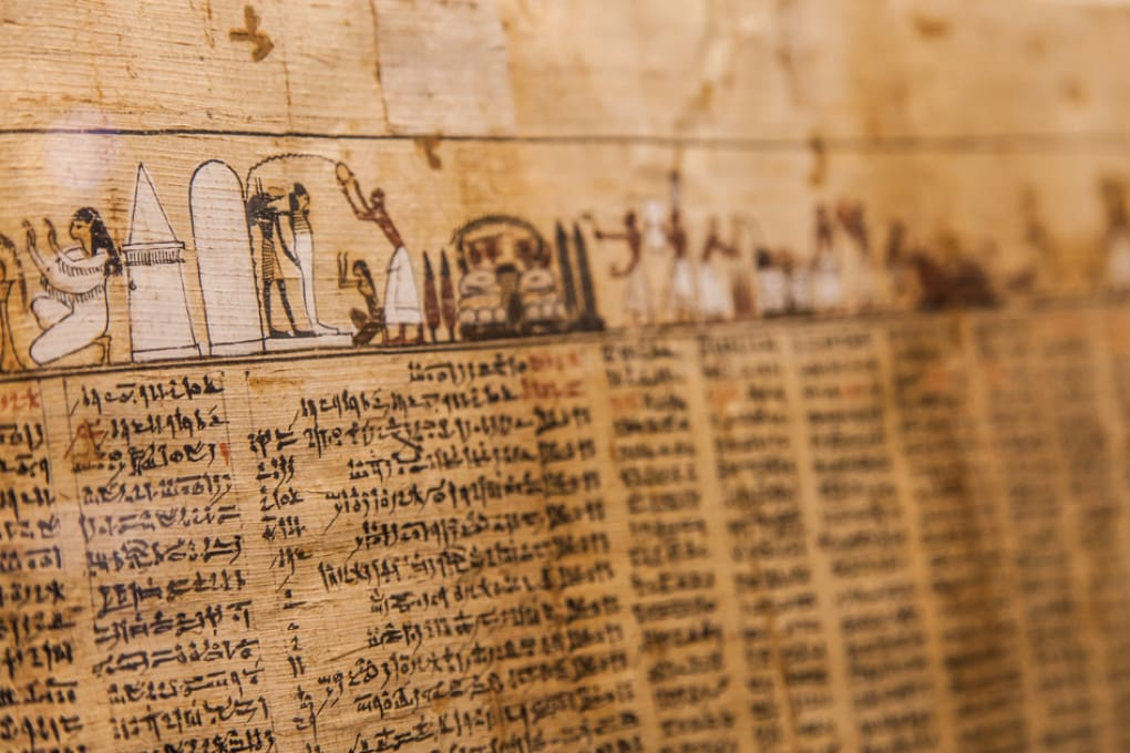 In foto, un particolare dell'antico Libro dei Morti (1070 a.C.).