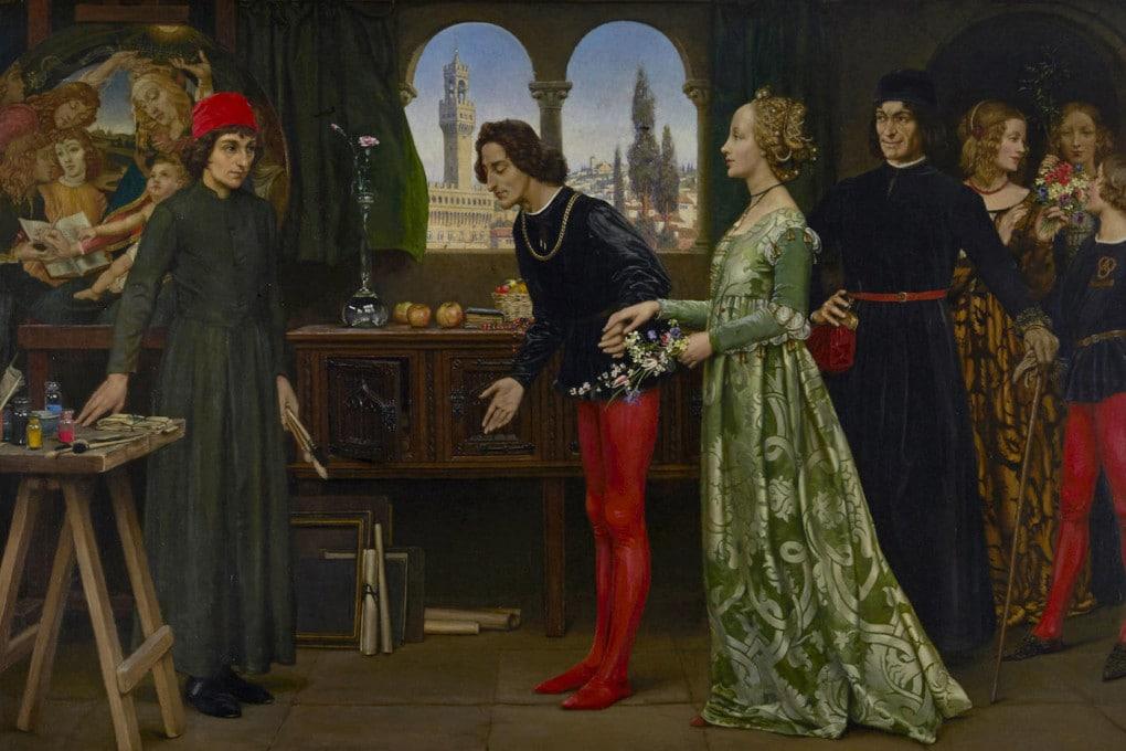 Giuliano e Lorenzo de' Medici nello studio di Botticelli