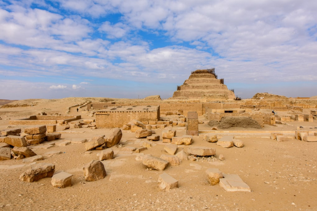 Il sito archeologico di Saqqara, necropoli di Menfi dell'antico Egitto.