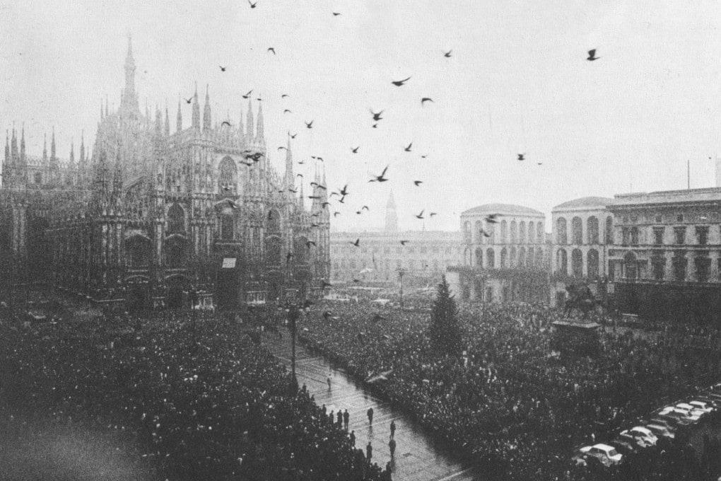 I funerali delle vittime di piazza Fontana