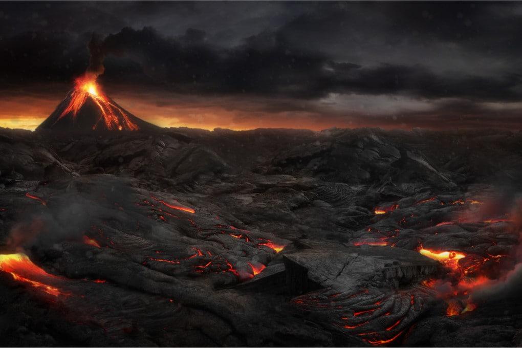 panorama del Permiano (illustrazione)